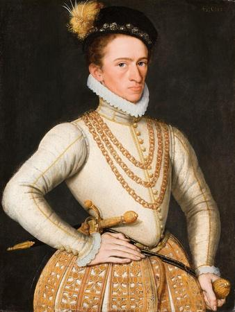 Portrait of an Unknown French Nobleman, 1560-9-French School-Giclee Print
