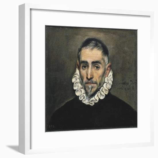 Portrait of an Unknown Gentleman-El Greco-Framed Art Print