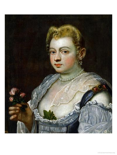 Portrait of an Unknown Lady-Jacopo Robusti Tintoretto-Giclee Print