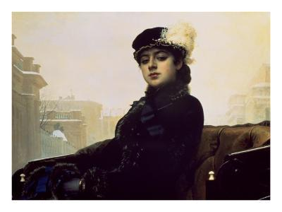 Portrait of an Unknown Woman-Ivan Kramskoj-Art Print