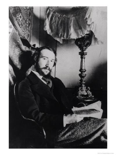 Portrait of Andre Gide in His Apartment in Paris, 1894--Giclee Print