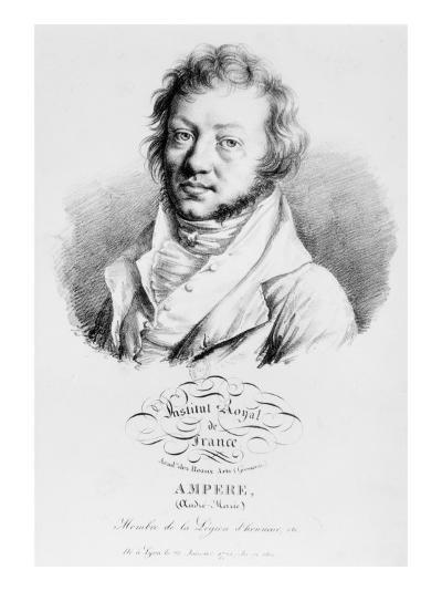 Portrait of Andre-Marie Ampere--Giclee Print