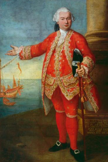 Portrait of Angelo Memmo Dressed as a Sea Captain-Alessandro Longhi-Giclee Print