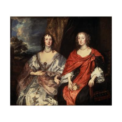 Portrait of Anne Dalkeith, and Anne Kirke, 1630S-Sir Anthony Van Dyck-Giclee Print