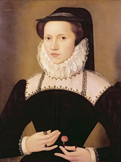Portrait of Anne Waltham, 1572-Francois Quesnel-Giclee Print