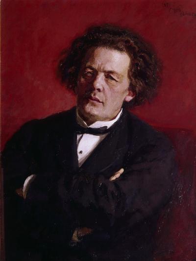 Portrait of Anton Grigoryevich Rubinstein, 1881-Ilya Efimovich Repin-Giclee Print