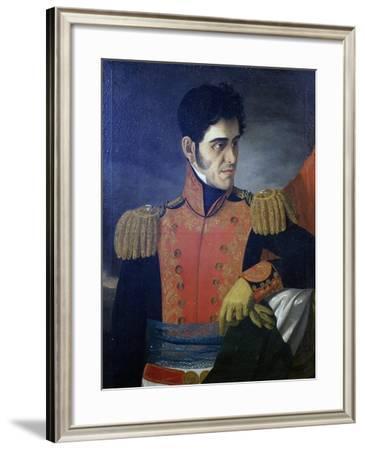 Portrait of Antonio Lopez De Santa Anna--Framed Giclee Print
