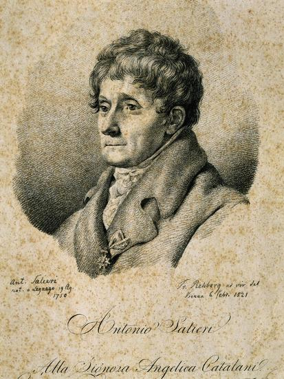 Portrait of Antonio Salieri--Giclee Print