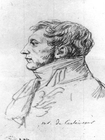Portrait of Armand Augustin Louis. Marquis De Caulaincourt (1772-1827)-Jacques-Louis David-Giclee Print
