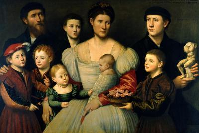 Portrait of Arrigo Licinio and His Family-Bernardino Licinio-Giclee Print