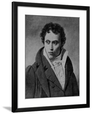 Portrait of Arthur Schopenhauer, German Philosopher--Framed Photographic Print
