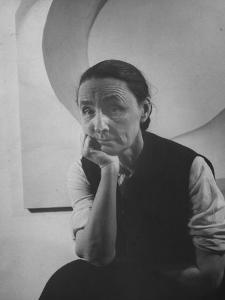 Portrait of Artist Georgia O'Keeffe W. Hand to Chin