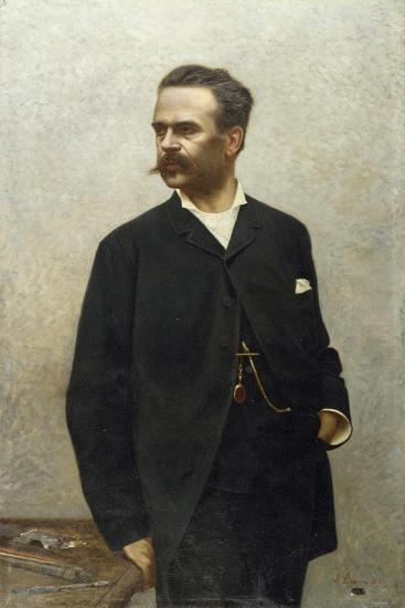 Portrait of Artist Niccolo Barabino-Alfredo Luxoro-Giclee Print