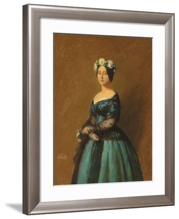 Portrait of Augusta, Princess of Prussia, 1846-Franz Xaver Winterhalter-Framed Giclee Print