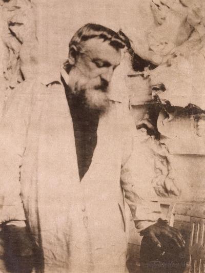Portrait of Auguste Rodin,1905-Eugene Atget-Giclee Print