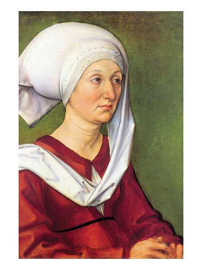 Portrait of Barbara Durer, Born Holper-Albrecht D?rer-Art Print