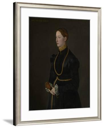 Portrait of Barbara Kressin, 1544-Netherlandish School-Framed Giclee Print