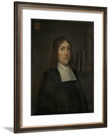 Portrait of Barend Hakvoort, Bookseller, Church Reader and Catechism Master in Zwolle-Hendrick ten Oever-Framed Art Print