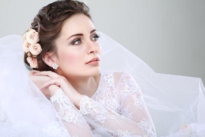 Portrait of Beautiful Bride-Pandorabox-Photographic Print