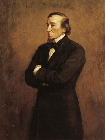 Portrait of Benjamin Disraeli, I Count of Beaconsfield--Giclee Print