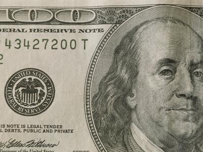 Portrait of Benjamin Franklin on the One Hundred Dollar Bill-Joel Sartore-Photographic Print