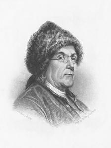 Portrait of Benjamin Franklin Wearing a Fur Hat