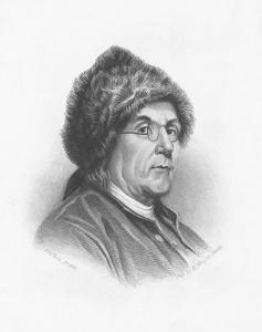 Portrait of Benjamin Franklin Wearing a Fur Hat