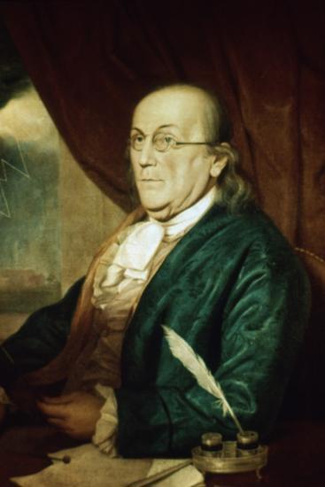 Portrait of Benjamin Franklin--Photographic Print