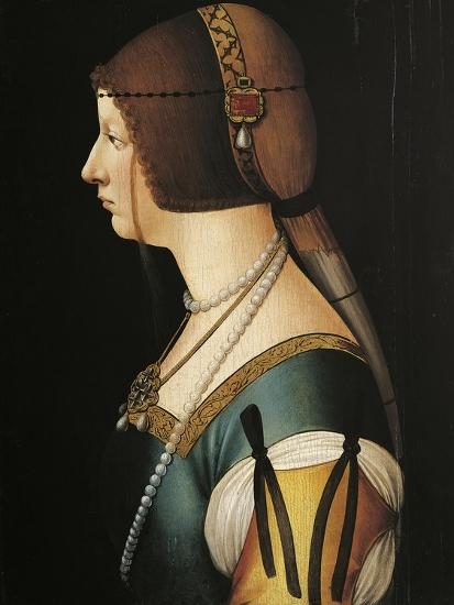 Portrait of Bianca Maria Sforza, Painting by Giovanni Ambrogio De Predis, 1493--Giclee Print