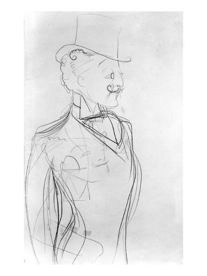 Portrait of Boni De Castellane (Pencil on Paper)-Sem-Giclee Print