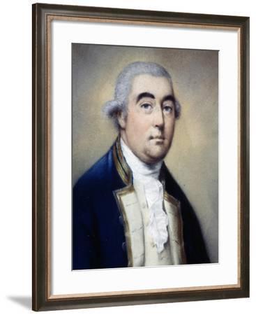 Portrait of British Vice-Admiral Hotham--Framed Giclee Print