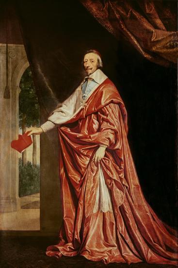 Portrait of Cardinal De Richelieu (1633-40)-Philippe De Champaigne-Giclee Print