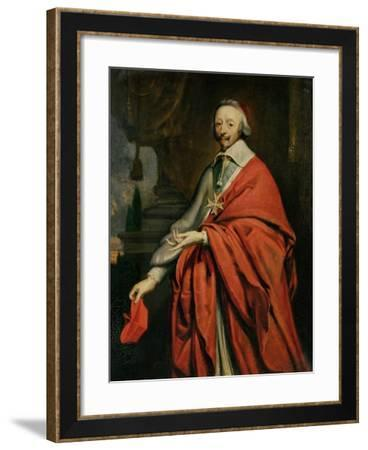 Portrait of Cardinal de Richelieu-Philippe De Champaigne-Framed Giclee Print