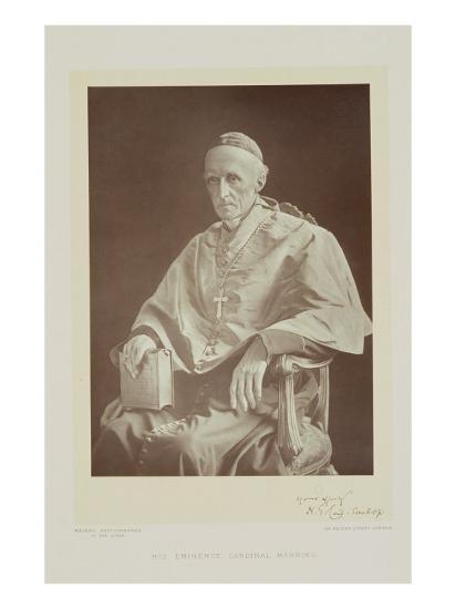 Portrait of Cardinal Henry Edward Manning-Walery Rzewuski-Giclee Print