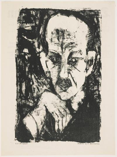 Portrait of Carl Sternheim, 1916-Ernst Ludwig Kirchner-Giclee Print