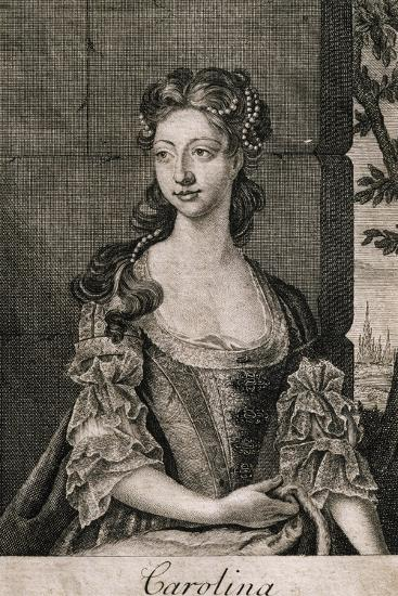 Portrait of Carolina Wilhelmina of Ansbach--Giclee Print
