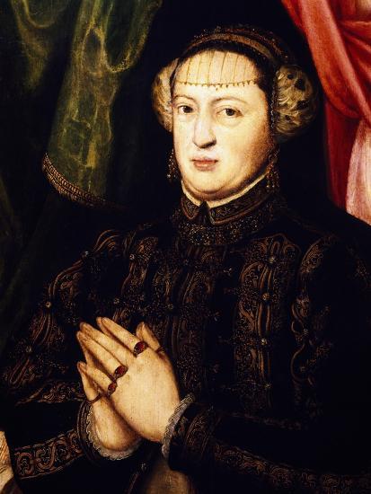 Portrait of Catherine of Habsburg-Lorenz Janscha-Giclee Print