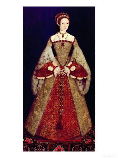 Portrait of Catherine Parr, 1545-Master John Of Samakov-Giclee Print
