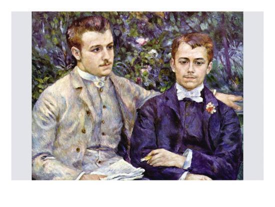 Portrait of Charles and George-Pierre-Auguste Renoir-Art Print