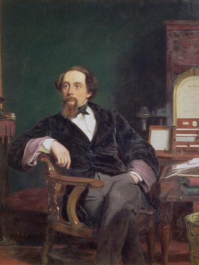 Portrait of Charles Dickens-William Powell Frith-Giclee Print
