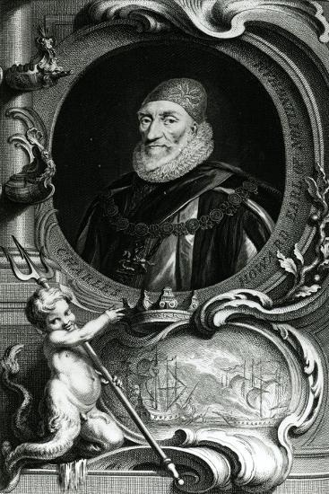Portrait of Charles Howard-Jacobus Houbraken-Giclee Print