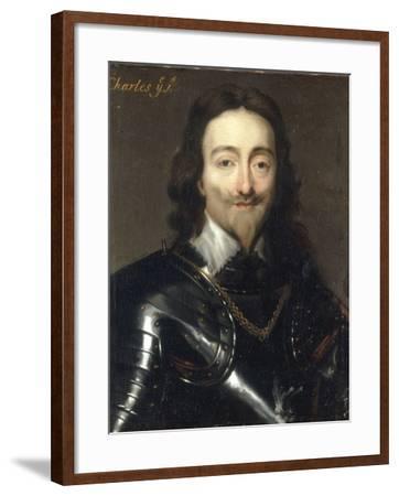 Portrait of Charles I-Sir Anthony Van Dyck-Framed Giclee Print