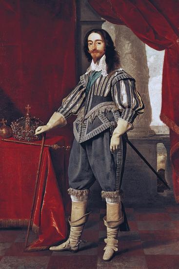 Portrait of Charles I--Giclee Print