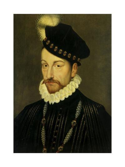 Portrait of Charles IX, King of France. Ca. 1570-Francois Clouet-Giclee Print