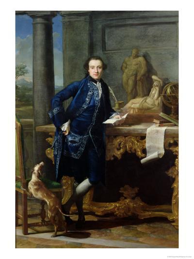 Portrait of Charles John Crowle (1738-1811) of Crowle Park, circa 1761-62-Pompeo Batoni-Giclee Print