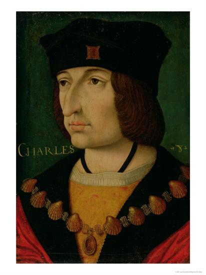 Portrait of Charles VIII King of France-Jean Bourdichon-Giclee Print