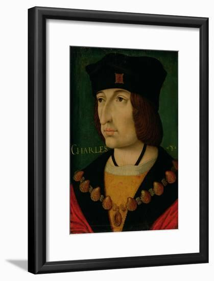 Portrait of Charles VIII King of France-Jean Bourdichon-Framed Giclee Print