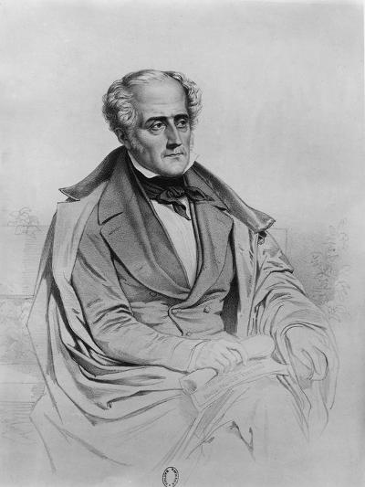 Portrait of Chateaubriand-Marie Alexandre Alophe-Giclee Print