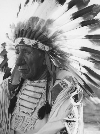 Portrait of Chief Red Cloud in Headdress-Stocktrek Images-Photographic Print