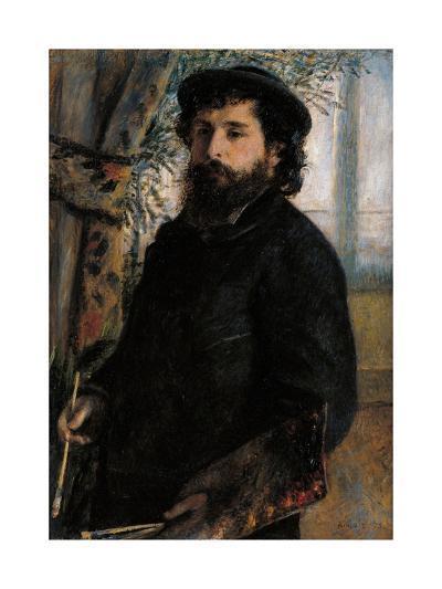 Portrait of Claude Monet-Pierre-Auguste Renoir-Art Print